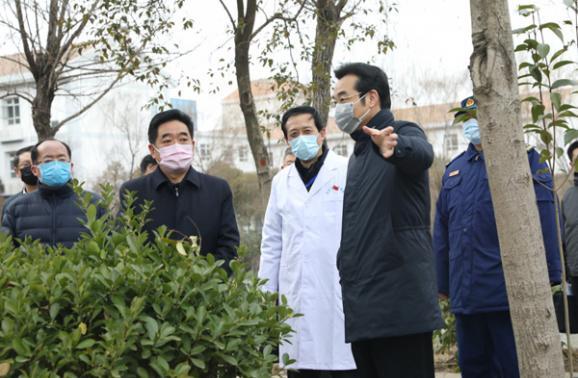 市委书记张爱军到市传染病医院调研 表扬华夏集团积极参加病区援建工作